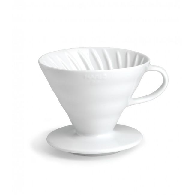 HARIO CERAMIC COFFEE DRIPPER V60 01 WHITE